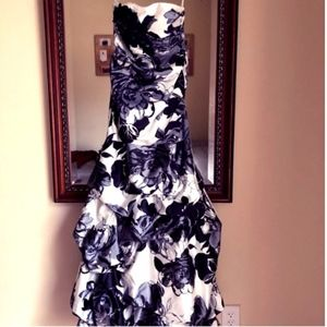 Black and White Mermaid style prom/formal dress